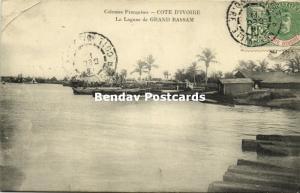 ivory coast, La Lagune de Grand Bassam (1911) Stamp