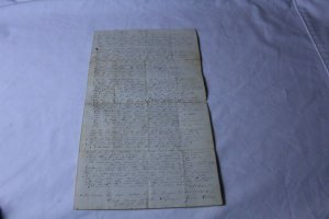 Vintage Hand Written Letter Dated 1848 Reads Like a Sermon