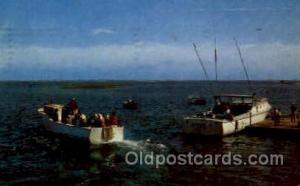 Chathan, Cape Cod, Mass., Massachusetts, USA Fishing Postcard Post Card  Chat...