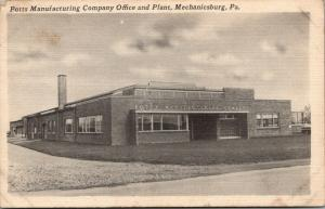 Mechanicsburg PA~Potts Mfg~Offices & Factory~Steel Railings Plant~1940 B&W Linen