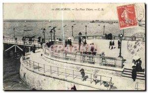 Old Postcard Arcachon La Place Thiers