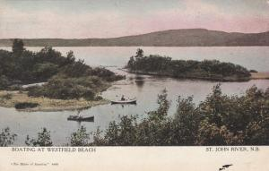 Boating at Westfield Beach St John River NB New Brunswick Canada pm 1907 - DB