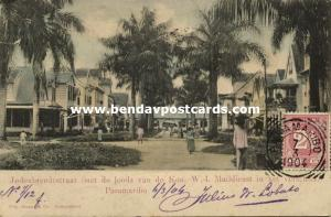 suriname, PARAMARIBO, Jodenbreedestraat, Shed Royal W.I. Mail Service 1904 Stamp