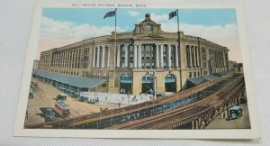 Vintage Postcard South Station, Boston, Mass Unposted 1920-1930 Colored Postcard