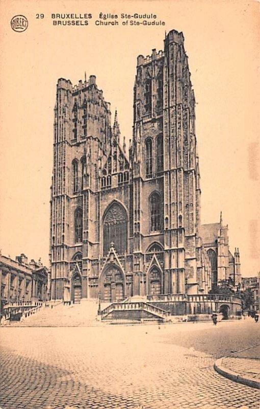 Church of Ste Gudule Brussels Belgium Unused