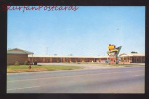 WEATHERFORD OKLAHOMA SOURHWESTERN MOTEL VINTAGE ADVERTISING POSTCARD