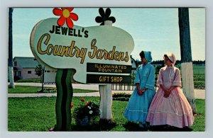 York PEI, Jewell's Country Gardens, Chrome Prince Edward Island Canada Postcard