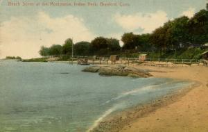 CT - Branford. Beach Scene at the Montowese,   Indian Neck