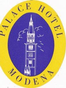 Italy Modena Palace Hotel Vintage Luggage Label lbl380