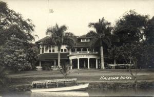 hawaii, HALEIWA, Haleiwa Hotel (1930s) RPPC