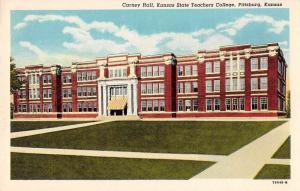Pittsburg Kansas State Teachers College Carney Hall Antique Postcard J57451