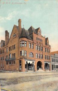 Ottumwa IA Wise & Kearns Plumbing & Heating in YMCA Building~Big Arch Door 1910