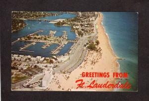 FL Greetings From  Ft Fort Lauderdale Florida Postcard PC Yankee Clipper Hotel