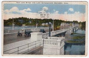 Worcester, Mass, New Lake Bridge over Lake Quinsigamond