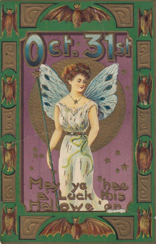 HALLOWEEN , 1923 ; Female Fairy & Bats