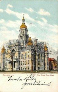 LP81   Court House  Davenport   Iowa Postcard