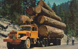 TRUCK, 1950-1960's; Logging Truck