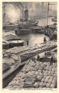 London Life: The Busy Docks in the Port of London, Boats, Charles Skilton