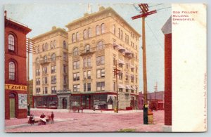 Springfield Illinois~Express Company in Odd Fellows Building~Kids on Curb~c1905
