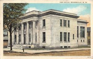 F23 Moundsville West Virginia Postcard 1930 Post Office Building 16