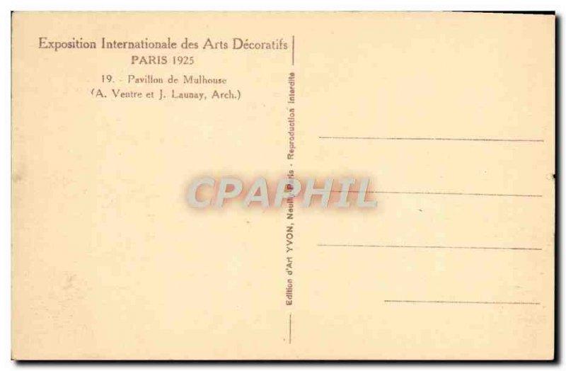 Postcard Ancient Arts Decoratifs Paris International Exhibition in 1925 Pavil...