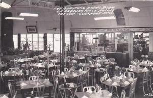 Mississippi Gulfport Angelos Italian Restaurant Dining Room Real Photo RPPC