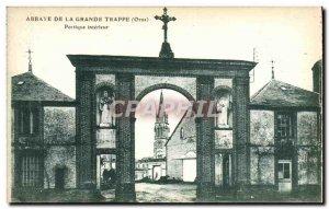 Postcard Abbey De La Grande Trappe Portico Interior