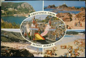 Jersey Greetings from Sunny Multi-view - posted 1985