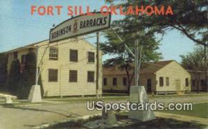 Robinson Barracks Fort Sill OK Unused