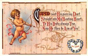 Valentines Day Post Card Old Vintage Antique Postcard Reproduction unused