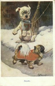 Artist Signed G.E. Studdy, BONZO Dog Swank (1920s) Postcard