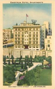 1940s Engstrium Hotel Apartments Roadside Los Angeles California Teich 1085