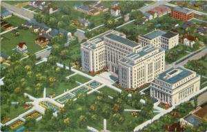 Birmingham Alabama~Jefferson County Courthouse~Homes~Business~Aerial View~1940s