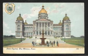 Capitol Building Des Moines Iowa used c1907
