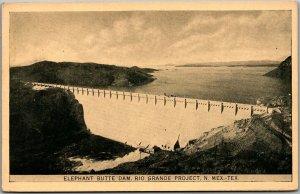1926 Philadelphia Expo Postcard ELEPHANT BUTTE DAM, New Mexico Rio Grande River