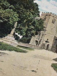 Vintage Postcard Great Brington Church Northampton. Valentines Series village