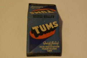 Tums for the Tummy Advertising 20 Strike Matchbook Cover