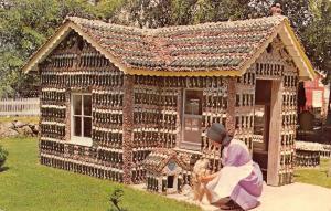 Arcola Illinois~Rockome Gardens~Fresca Pop Bottle House~Sunbonnet Woman~1960s PC