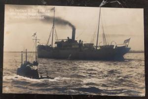 Mint German Navy U Boat Submarine Real Picture Postcard RPPC The English Ship