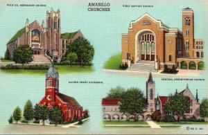 Texas Amarillo Churches Multi View Curteich