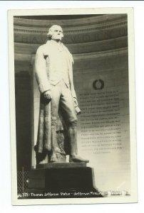 [SOLD] RPPC Postcard 16-375 Thomas Jefferson Memorial Washington DC VPC4.