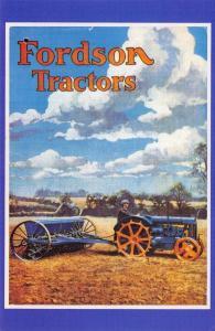Postcard Nostalgia 1937 FORDSON TRACTORS Catalogue Advertisement Repro Card