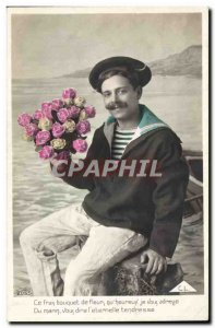 Old Postcard Fancy spawning This bouquet of flowers (marine)