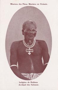 Indigene De Rubiana, Archipel Des Salomon, Missions Des Peres Maristes En Oceani