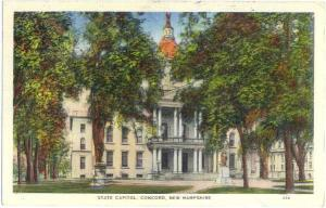 State Capitol, Concord, New Hampshire, NH, 1938 Linen
