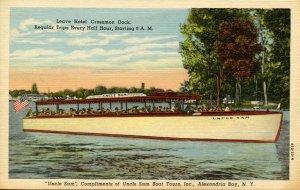 NY - Thousand Islands. Passenger Boat Uncle Sam