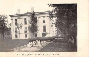 Brooklyn New York Navy Yard Headquarters Antique Postcard K7876668