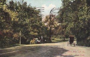 NEW YORK CITY, New York, PU-1909; Central Park, Drive Way 74th Street