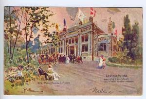 Milaano Italy 1906 Aeronautica Expo Building Postcard