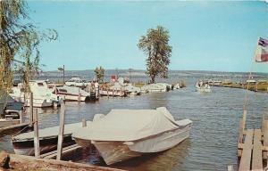 Ashville New York~Maple Bay Marina~Atlantic Gas~Docks~Boats~1971 Postcard
